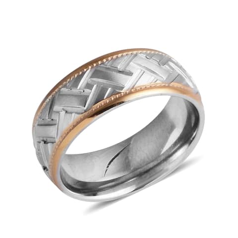 Band Ring Mens Stainless Steel