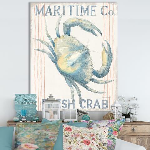 Designart 'RW Floursack Nautical III' Cottage Canvas Wall Art