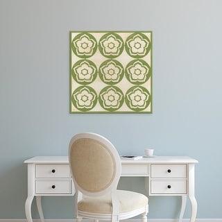 Easy Art Prints June Erica Vess's 'Floral Trellis VII' Premium Canvas Art