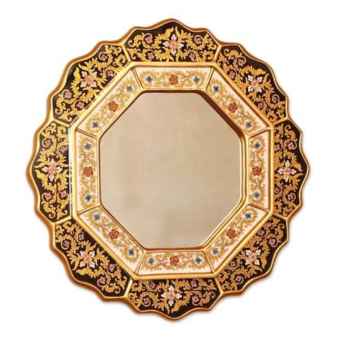 Handmade Black Star Mirror (Peru)