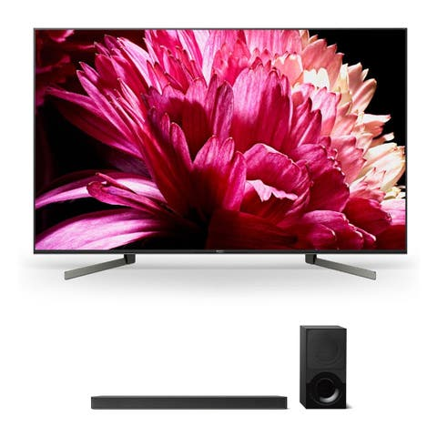 """Sony XBR85X950G 85"""" BRAVIA 4K Ultra HD HDR Smart TV and HT-X9000F 2.1-Channel Dolby Atmos Sound Bar with Subwoofer - Black"""