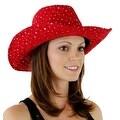 Glitter Sequin Trim Cowboy Hat for Ladies - Thumbnail 37