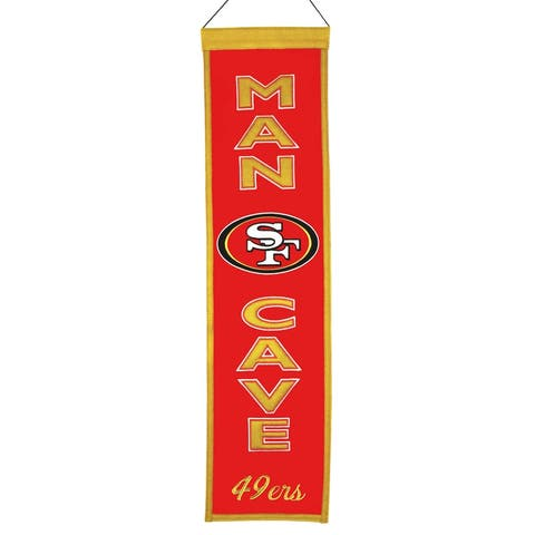 San Francisco 49ers Man Cave Wool Banner