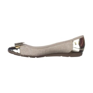Anne Klein Womens Aricia Fabric Closed Toe Slide Flats