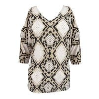 INC International Concepts Women's Printed Cold-Shoulder Blouse (M, Snake Stain) - snake stain - m