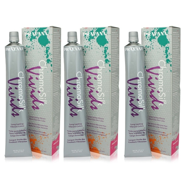 PRAVANA ChromaSilk Vivids Creme Hair Color with Silk & Keratin Protein (Wild Orchids)3 fl Oz-3 pack