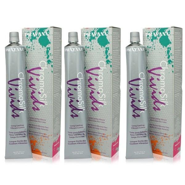 PRAVANA ChromaSilk Vivids Creme Hair Color with Silk & Keratin Protein (Yellow)3 fl Oz-3 pack