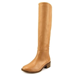 Corso Como Garrison Women Round Toe Leather Tan Knee High Boot