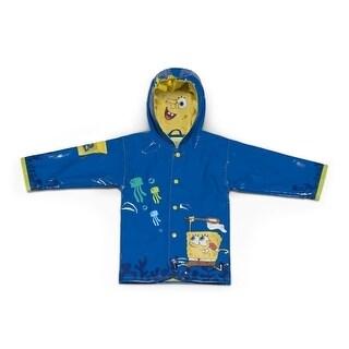 Kidorable Baby Boys Blue SpongeBob SquarePants Hooded Rain Coat 12-18M