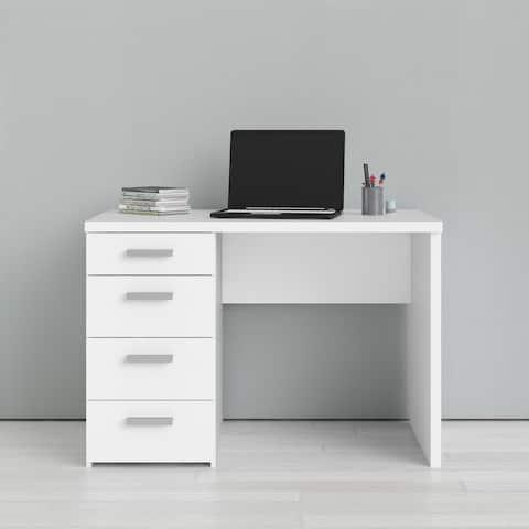 Porch & Den Wendell White 4-drawer Desk