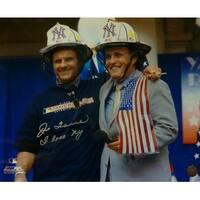 Joe Torre Autographed New York Yankees 16x20 Photo wRudy Giuliani