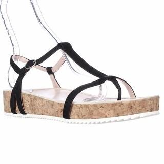Taryn Rose Amore T-Strap Platform Sandals - Black