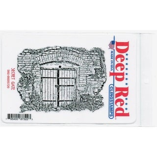 Deep Red Stamps Secret Gate Rubber Cling Stamp - 4 x 3