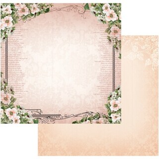 """Vintage Rose Garden Double-Sided Paper 12""""X12""""-Frame Of Roses"""
