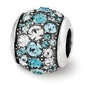 Sterling Silver Reflections Swarovski Elements Seaside Bead (4mm Diameter Hole) - Thumbnail 0