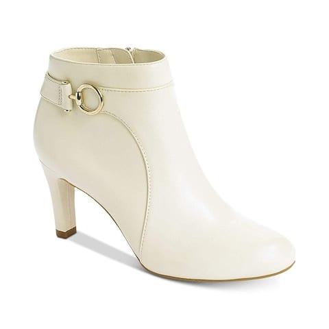 Bandolino Womens Longo Leather Closed Toe Ankle Fashion Boots