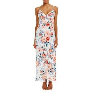 Minkpink Womens Maxi Dress Floral Print Faux Wrap