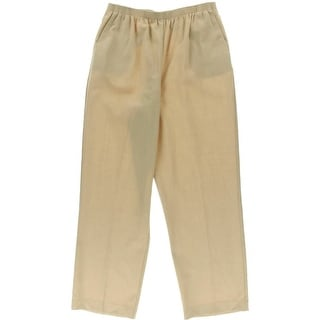 Alfred Dunner Womens Knit Solid Casual Pants