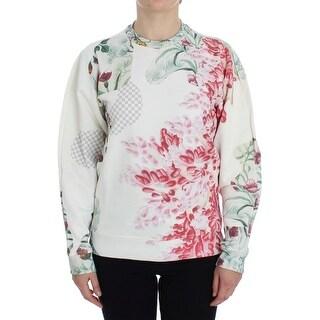MASHA REVA Multicolor Motive Print Cotton Sweater