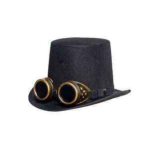 Underwraps Hat with Goggles Black - Black/gold
