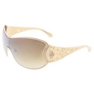 Roberto Cavalli RC803S/S 28F ALCYONE Ivory/Gold Shield sunglasses