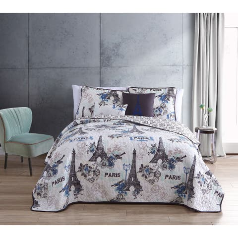 Cherie 4 - 5 pc Quilt Set with Decorative Pillows and Shams