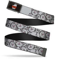 The Big Bang Theory Fcg Black White Red Chrome Soft Kitty Poses Web Belt