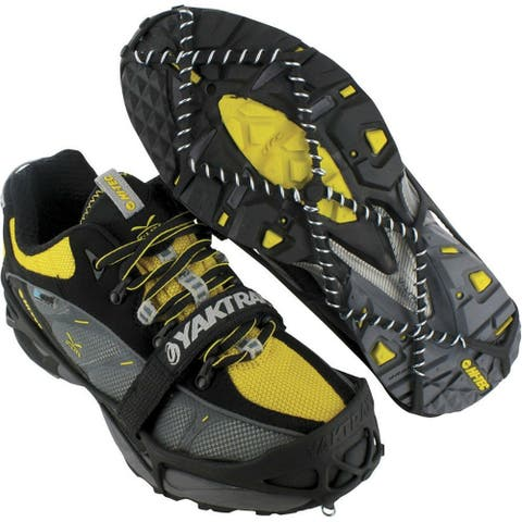 Yaktrax Pro 08613 Winter Shoe Traction Cleats for Snow & Ice, Black, Large