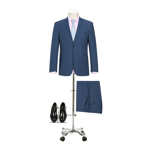 Mens 2 Pieces Suit 2 Buttons Solid Slim Fit Single Breasted Suit