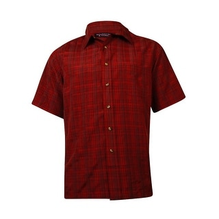 Roundtree & Yorke Men's One Pocket Buttoned Plaid Shirt