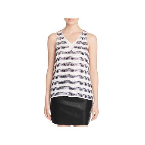 Cooper & Ella Womens Shell Stripe V-Neck - S