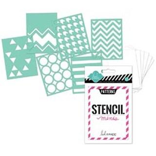 """Patterns - Heidi Swapp 3""""X4"""" Mini Stencil Kit"""
