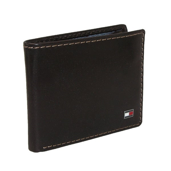 Tommy Hilfiger Men's Leather Logan Double Billfold Wallet - One size