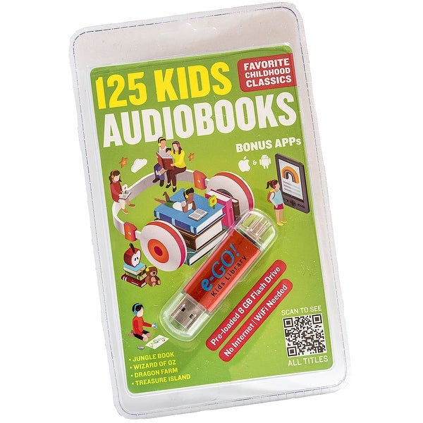 125 Classic Kids AudioBook Collection e-GO! Library