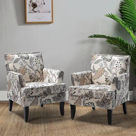 Herrera Upholstered Armchair with Nailhead Trim,set of 2