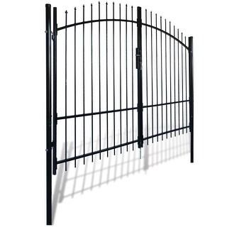 vidaXL Double Door Fence Gate with Spear Top 10' x 8'