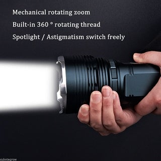 Multifunctional 20W LED Flashlight with bracket for Fishing Camping Hunting US