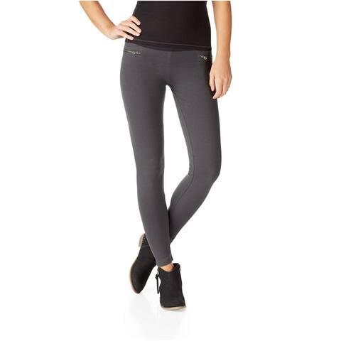 Aeropostale Womens Skinny Stretch Legging Athletic Track Pants, Grey, Large
