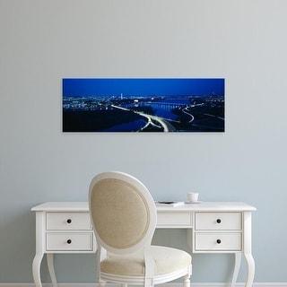 Easy Art Prints Panoramic Images's 'High angle view of a city, Washington DC, USA' Premium Canvas Art