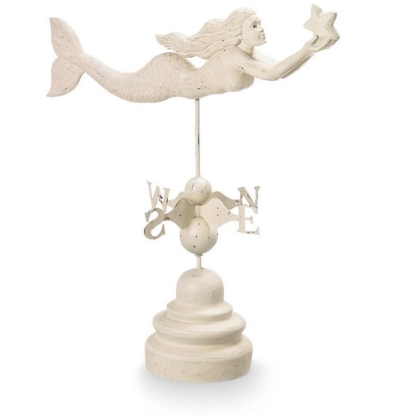 Mermaid Weather Vane - WHITE
