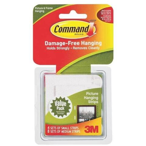 3M 17203 Command Small and Medium Picture Hanging Strips
