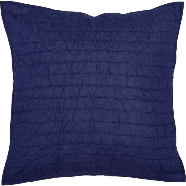 Bella Taylor Home Rochelle Quilted Euro Sham 26x26, Twilight Blue