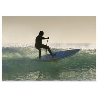 """man surfing"" Poster Print"