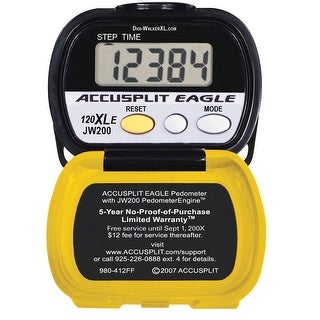 Accusplit AE120XLE Pedometer, Yellow/Black