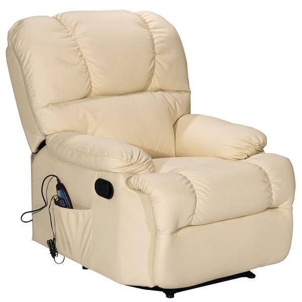 Shop Costway Recliner Massage Sofa Chair Deluxe Ergonomic Lounge