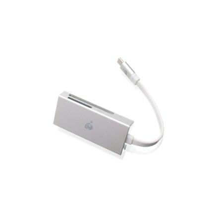 Iogear Gfr3c15 3-In-1 Usb Type C Quantum Memory Card Reader