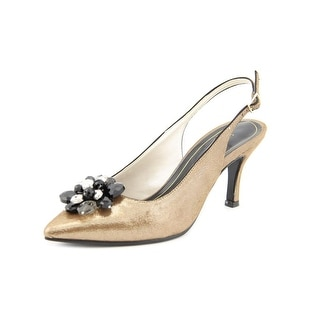Caparros Obsession Round Toe Synthetic Slingback Heel