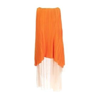 Vionnet Womens Satin Overlay Sheer Back Cocktail Dress - 40