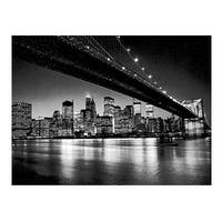 ''Manhattan Skyline'' by Henri Silberman Photography Art Print (15.75 x 19.75 in.)