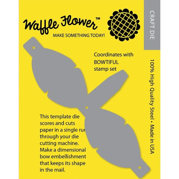 Waffle Flower Die-Mailable 3D Bow Template